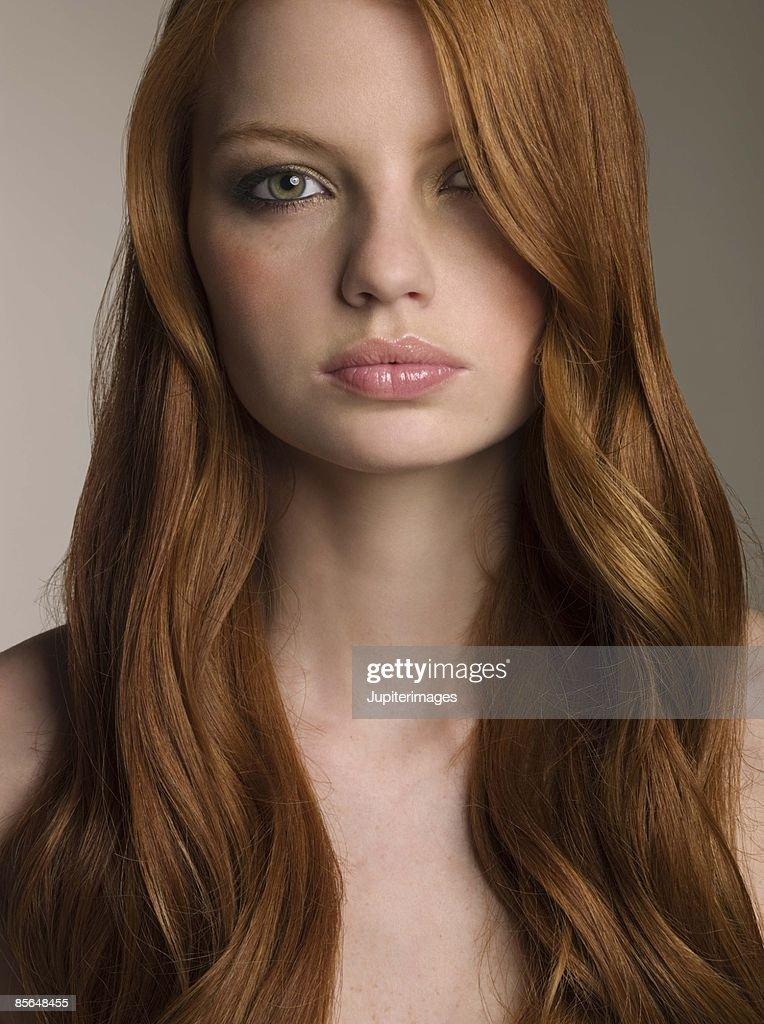 Portrait of beautiful woman : Stock Photo