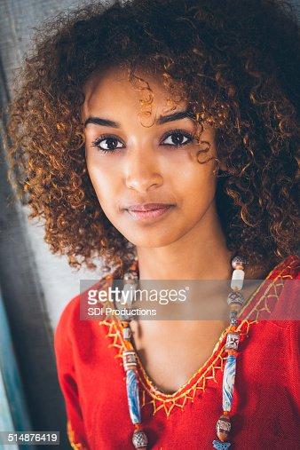 Portrait Of Beautiful Young Ethiopian Woman In Traditional Clothing Stock Photo -6310