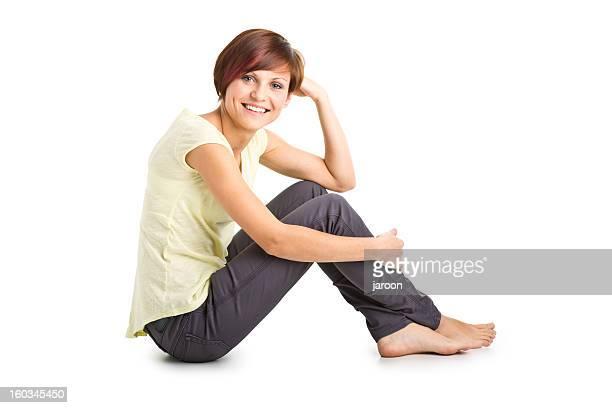ritratto di bellezza giovane donna - scalzo foto e immagini stock