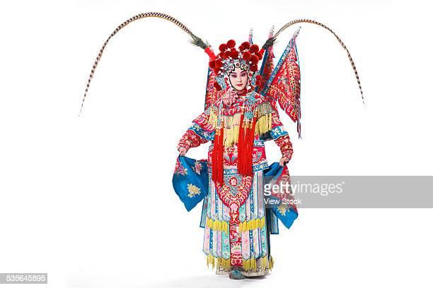 portrait of beijing opera actor actress - beijing opera stock photos and pictures