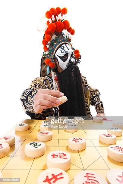 portrait of beijing opera actor - beijing opera stock photos and pictures