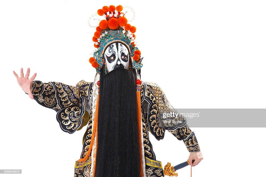 Portrait of Beijing opera actor : Stock Photo