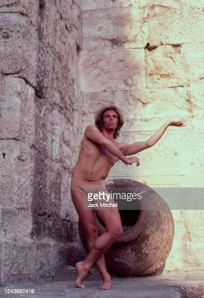 Portrait of Bejart Ballet principal dancer Jorge Donn, Athens, Greece, June 1983.