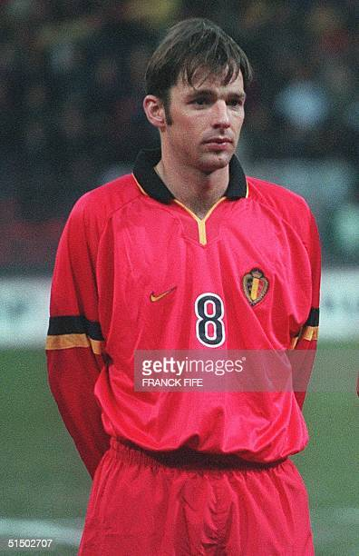Portrait of Belgian midfielder Bart Goor taken 23 February 2000 in Charleroi before the start of a friendly match between Belgium and Portugal The...