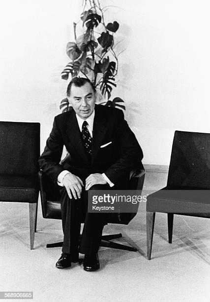 Portrait of Belgian Prime Minister Leo Tindemans, June 3rd 1977.