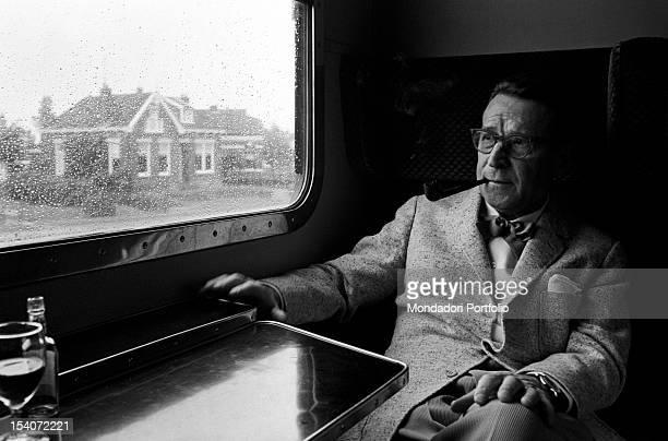 Portrait of Belgian writer Georges Simenon. 1960s