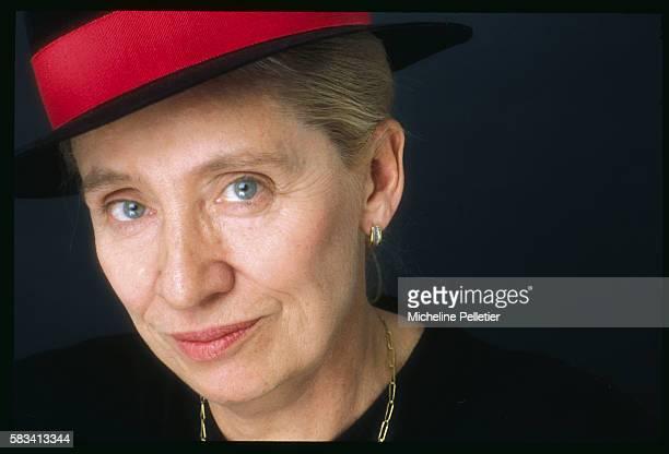 Portrait of Belgianborn French writer Francoise MalletJoris member of the literary Goncourt Academy between the release of La tristesse du cerfvolant...