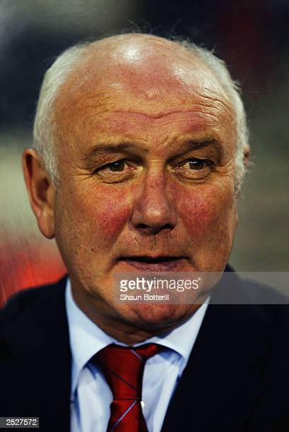 Portrait of Belgium coach Aime Anthuenis taken before the UEFA European Championships 2004 Group 8 Qualifying match between Belgium and Croatia held...