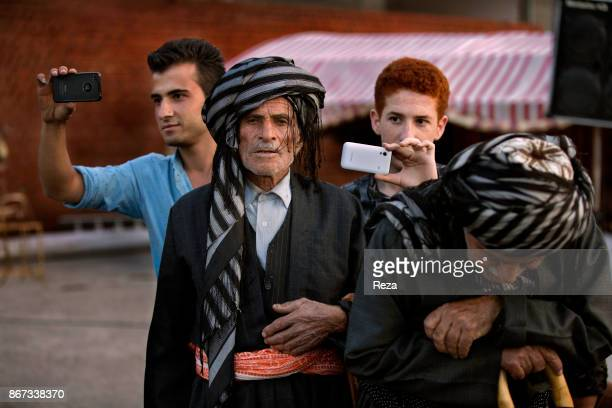 Portrait of believers during a ceremony of the dervish Qaderi brotherhood that takes place with the most important spiritual leader of the Qaderi...