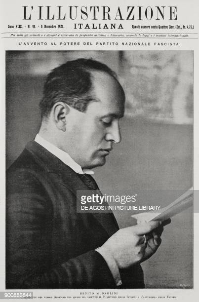 Portrait of Benito Mussolini after his appointment as Prime Minister Italy from L'Illustrazione Italiana Year XLIX No 45 November 5 1922