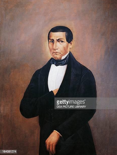 Portrait of Benito Pablo Juarez Garcia Mexican politician and president Oil on canvas 1852 Oaxaca Museo De Las Culturas De Oaxaca