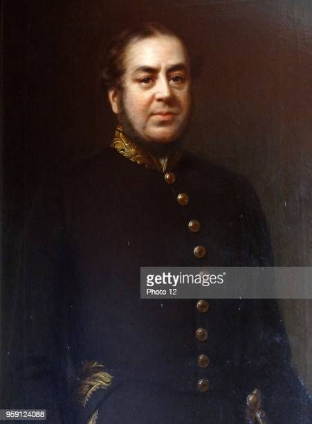 Portrait of Benjamin Disraeli 1st Earl of Beaconsfield British Conservative politician and writer who twice served as Prime Minister Dated 19th...