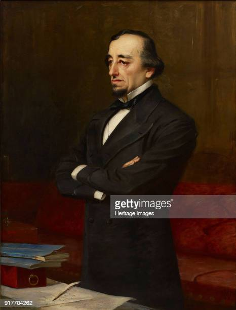 Portrait of Benjamin Disraeli 1st Earl of Beaconsfield Private Collection