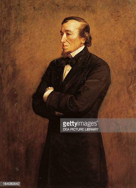 Portrait of Benjamin Disraeli I Count of Beaconsfield British politician and writer Painting by Sir John Everett Millais London National Portrait...