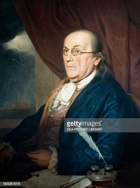 Portrait of Benjamin Franklin American scientist and politician Painting by Charles Willson Peale Filadelfia Historical Society Of Pennsylvania