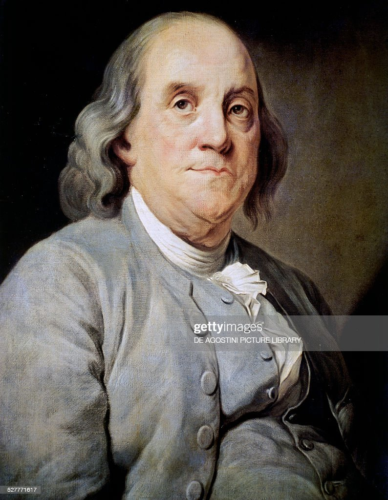 Portrait of Benjamin Franklin... : News Photo
