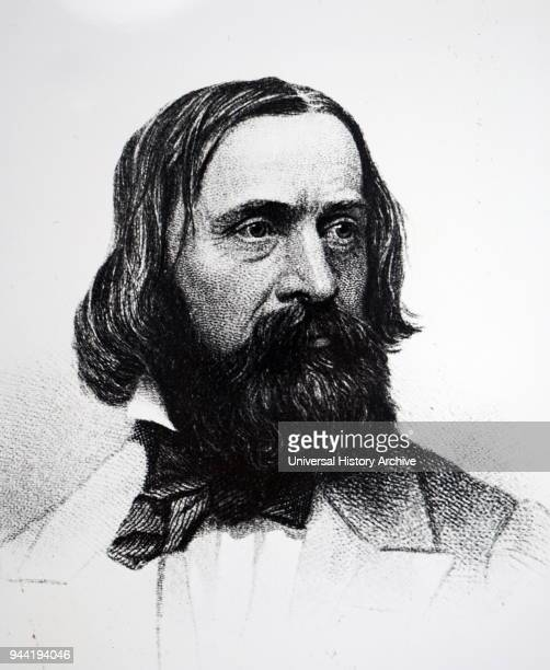 Portrait of Benjamin Peirce an American mathematician who taught at Harvard University for approximately 50 years He made contributions to celestial...
