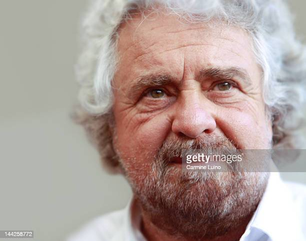 Portrait of Beppe Grillo. Comedian, actor, political activist and blogger Italian, founder of 5 stars.