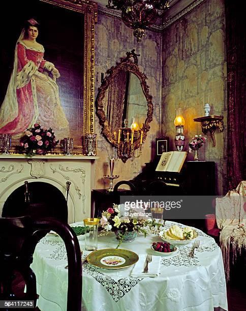Portrait of Bessie Bringhurst Galt Smith which hangs in the breakfast room of Rockwood Manor built by her ancestor Joseph Shipley II in 1851 in...