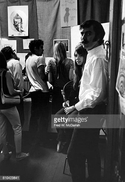 Portrait of Betsy and Jeff Glick in Head Shop their store at 304 E 9th Street New York New York June 25 1966