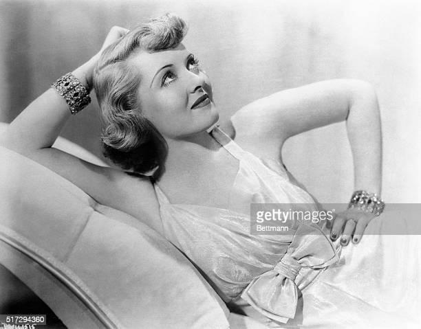 Portrait of Bette Davis Lounging