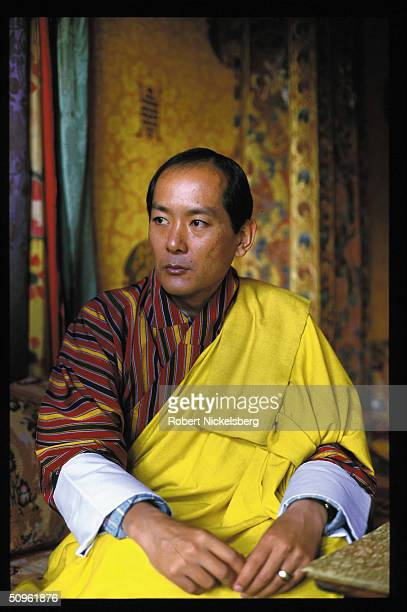 Portrait of Bhutan's King Jigme Singye Wangchuck during an interview for Time magazine Thimphu Bhutan October 1998