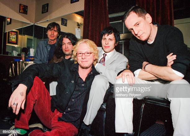 Portrait of Big Star with Mike Mills of REM backstage at The Fillmore in San Francisco California USA on 2nd March 2002