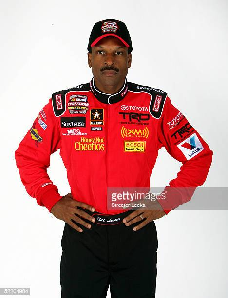 Portrait of Bill Lester driver of the NASCAR Craftsman Truck Series Suntrust Toyota at the NASCAR Nextel Cup Daytona 500 on February 16 2005 at the...