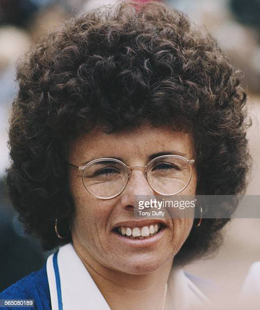 Portrait of Billie Jean King of the United States after defeating against Evonne Goolagong Cawley for the Women's Singles Final match at the...