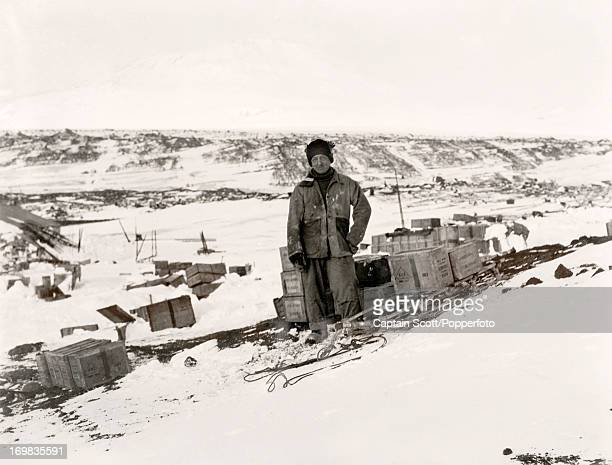 A portrait of Birdie Bowers at Cape Evans taken during the last tragic voyage to Antarctica by Captain Robert Falcon Scott circa October 1911 Scott...