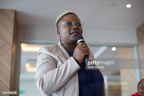 portrait of black business speaking at a conference - showus stock pictures, royalty-free photos & images