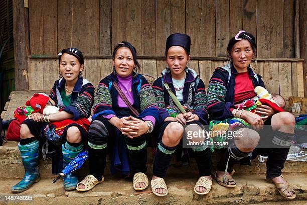 Portrait of Black Hmong women.