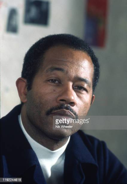 PARIS JANUARY 1974 Portrait of Black Panther and author of Soul on Ice Eldridge Cleaver while he was a fugitive from the US Government in Paris circa...
