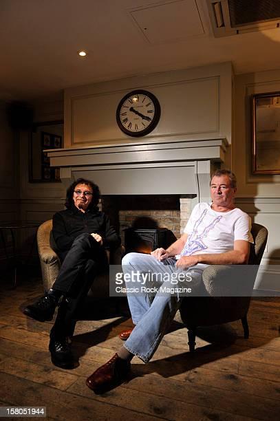Portrait of Black Sabbath guitarist Tony Iommi and former Deep Purple frontman Ian Gillan taken on April 1 2011