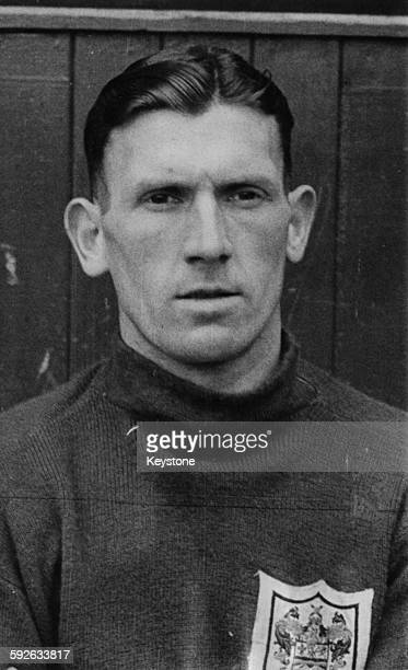 Portrait of Blackpool Football Club goalkeeper Joe Robinson pictured prior to the teams FA Cup final match against Manchester United April 3rd 1948