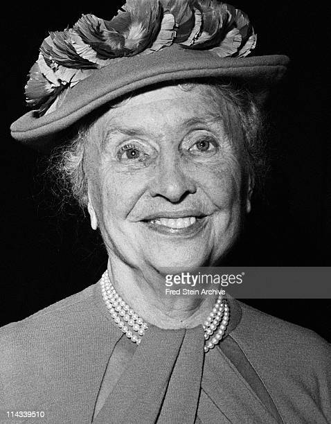 Portrait of blind American author and educator Helen Keller 1955