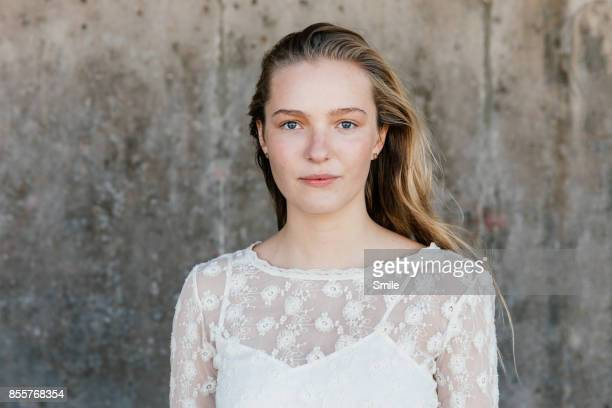 girl thinking white background ストックフォトと画像 getty images