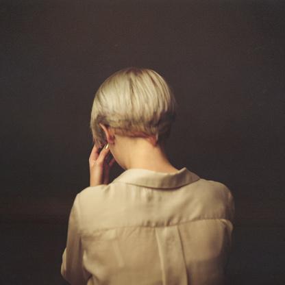 Portrait of blond woman in studio - gettyimageskorea