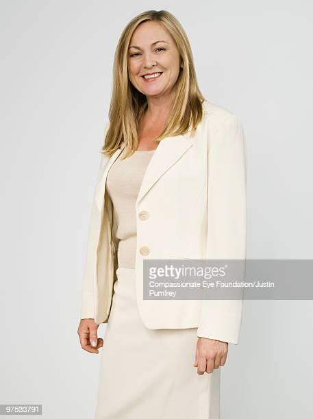 Portrait of blonde business woman