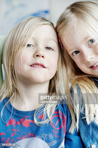 Portrait of blonde haired girls