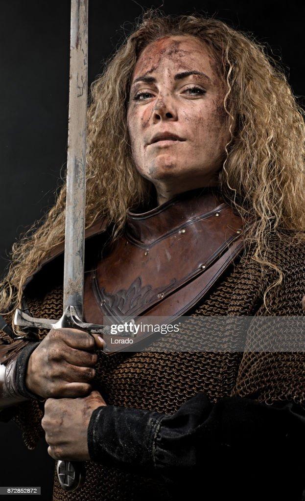 Portrait Of The Female Viking Royalty Free Stock Photos