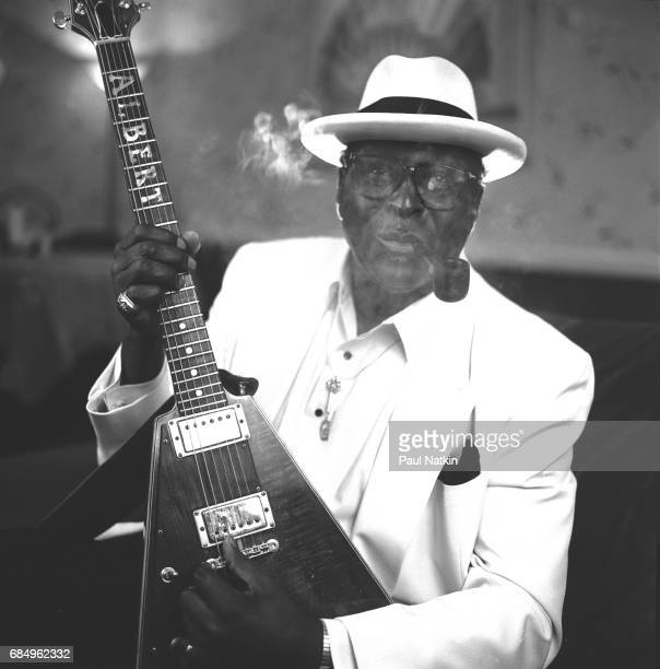 Portrait of blues musician Albert King Cleveland Ohio February 20 1991