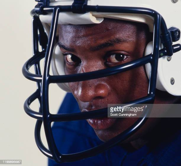 Portrait of Bo Jackson, Running Back for the University of Auburn Tigers during the NCAA Southeastern Conference college football season September...