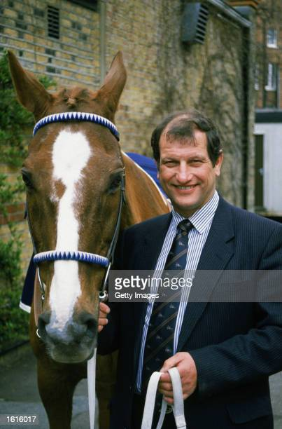 A portrait of Bob Champion and Aldaniti the Horse during a photo call for the Bob Champion Cancer Trust in Great Britain on the 17th of April 1996