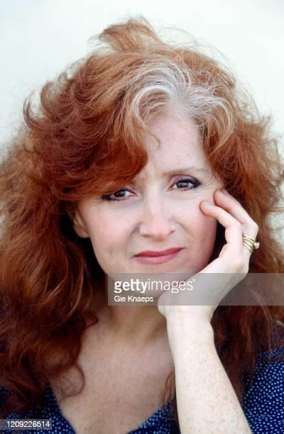 Portrait of Bonnie Raitt, backstage, Torhout/Werchter Festival, Torhout, Belgium, 6 July 1991.