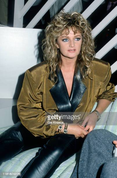 Portrait of Bonnie Tyler Diamond Awards Festival Sportpaleis Antwerp Belgium 28th November 1987