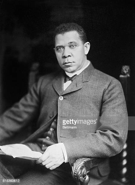 Portrait of Booker T Washington American educator and founder of the Tuskegee Institute
