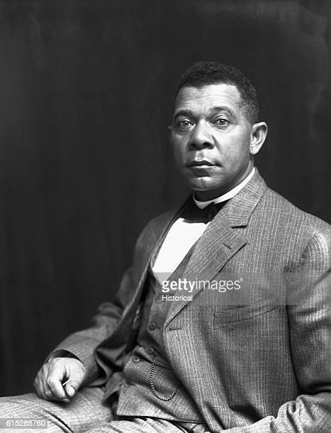 Portrait of Booker T Washington He was the first head of the Tuskegee Institute in Alabama