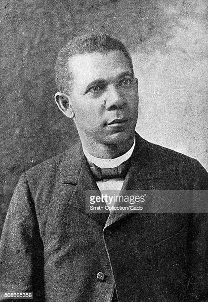 Portrait of Booker T Washington president of the Tuskegee Institute 1899