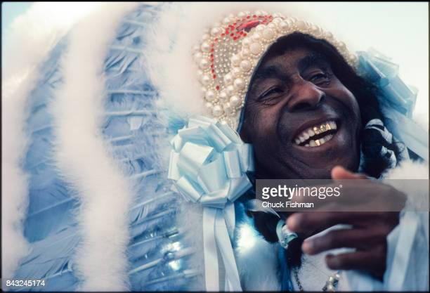Portrait of Booker Washington Trail Chief of the Wild Tchoupitoulos Mardi Gras Indians New Orleans Louisiana April 1981